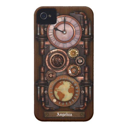 Montre vintage #1B de Steampunk Coques iPhone 4