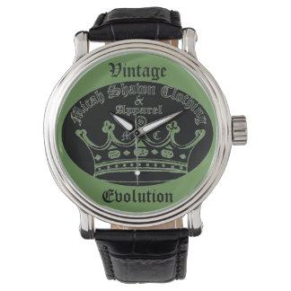 Montre vintage d'évolution (logo original de