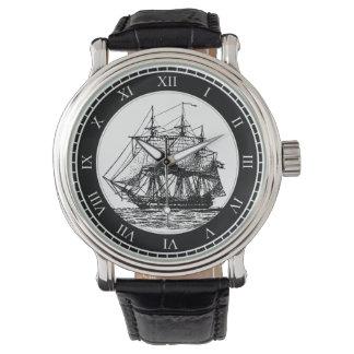 Montre vintage nautique de bateau de navigation