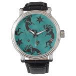 Montre vintage unisexe de style de motif du montres bracelet