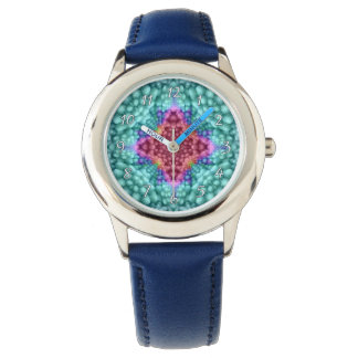 Montre vintage vintage bleue super d'enfants