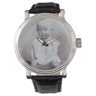Montre Wach antique vintage FromMyDesk de photo de bébé