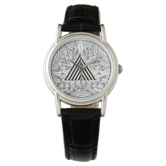 Montre watch mandala black and whit