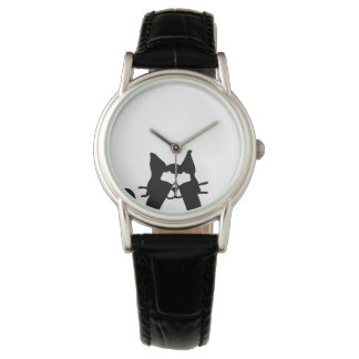 Montre Yeux semi-transparents de bâche de chat de Kitty