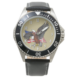 Montres Bracelet Américain Eagle avec la croix