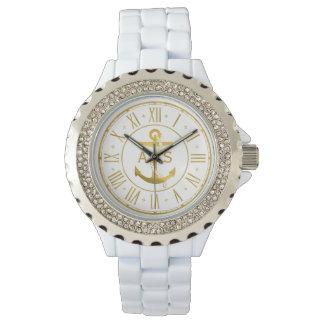 Montres Bracelet Ancre d'or avec les cadeaux nautiques des