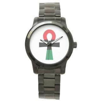 Montres Bracelet Ankh rouge, noir et vert