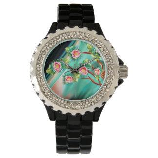 Montres Bracelet Arbre de floraison d'imaginaire de ressort