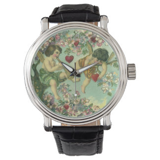 Montres Bracelet Arbre victorien vintage de coeur de cupidons de