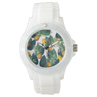 Montres Bracelet blanc de pineaple et de citron