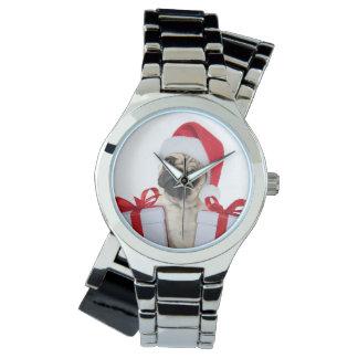 Montres Bracelet Cadeaux de carlin - chien Claus - carlins drôles -