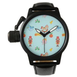 Montres Bracelet Casse-noix, cheval, ange et motif de Noël d'oiseau