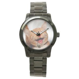 Montres Bracelet Chat clignant de l'oeil - chat orange - les chats