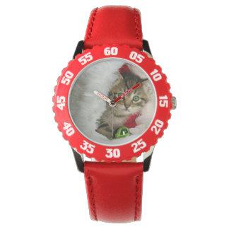 Montres Bracelet Chat de Noël - chat de chaton - chats mignons