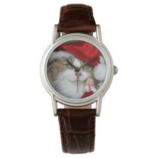 Montres Bracelet Chat de Père Noël - chat de Noël - chatons mignons