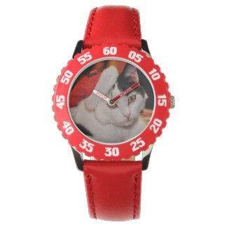 Montres Bracelet Chat du père noël - Joyeux Noël - choyez le chat