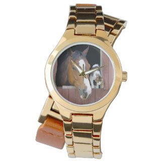 Montres Bracelet Chat et cheval - ranch de cheval - amants de