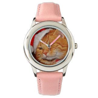 Montres Bracelet Chat orange - chat du père noël - Joyeux Noël