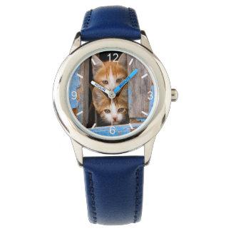 Montres Bracelet Chatons mignons de chat dans le cadran-plat