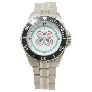 Montres Bracelet Chevron personnalisé par papillon moderne badine