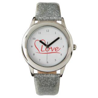 Montres Bracelet Coeur avec des amours