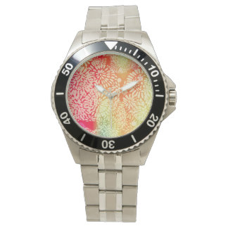 Montres Bracelet Conception abstraite lumineuse de flower power