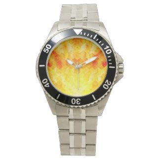 Montres Bracelet Conception géométrique de cube en rayon de soleil