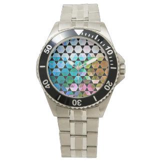 Montres Bracelet Conception graphique de sortilège d'arc-en-ciel