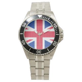 Montres Bracelet Conception originale Union Jack de point de croix