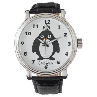 Montres Bracelet Conception personnalisée de pingouin