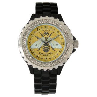 Montres Bracelet Coutume française de bourdon d'abeille de nid