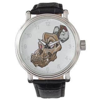 Montres Bracelet Crâne de singe de bande dessinée