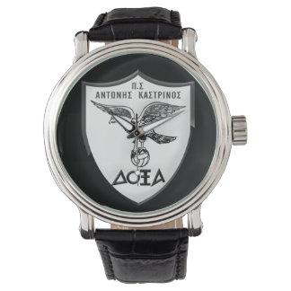 Montres Bracelet Cru noir fait sur commande Leather/ΑΝΔΡΙΚΟ ΡΟΛΟΙ