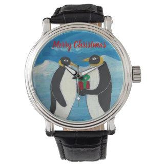Montres Bracelet Cuir vintage noir fait sur commande de Noël B de