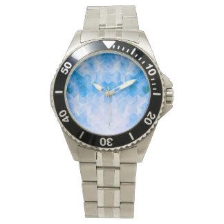 Montres Bracelet Dessin géométrique de cube bleu