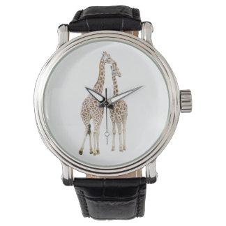 Montres Bracelet Deux girafes