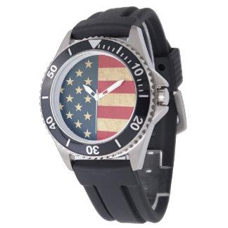 Montres Bracelet Drapeau américain patriotique vintage original