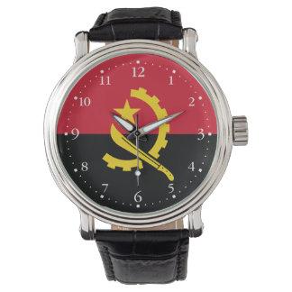 Montres Bracelet Drapeau angolais patriotique