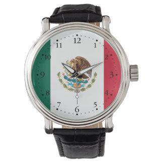 Montres Bracelet Drapeau mexicain patriotique