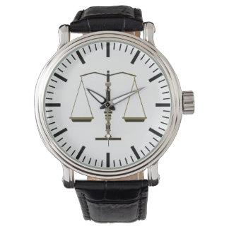 Montres Bracelet Échelles chiques cadeaux de loi de la justice  
