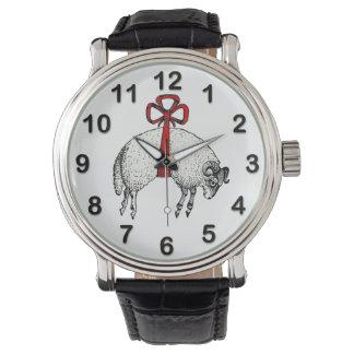 Montres Bracelet Emblème réuni héraldique de crête de moutons de