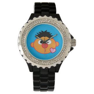 Montres Bracelet Ernie font face à jeter un baiser