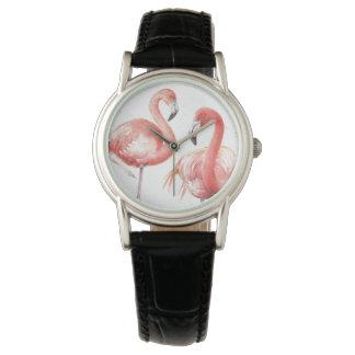 Montres Bracelet Famille tropicale de   des flamants