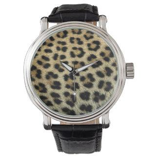 Montres Bracelet Fermez-vous des taches de léopard, Afrique