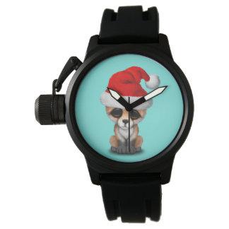 Montres Bracelet Fox de bébé utilisant un casquette de Père Noël