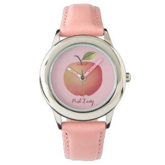 Montres Bracelet Fruit doux Girly simple mignon rose de Madame