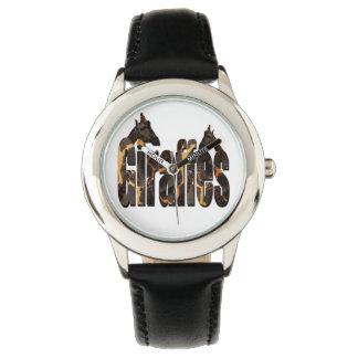 Montres Bracelet Girafes avec le logo de motif de girafe, enfants