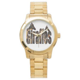 Montres Bracelet Girafes avec le logo de motif de girafe, grand