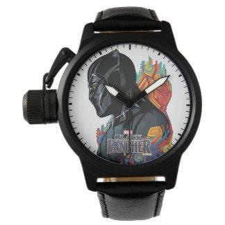 Montres Bracelet Graffiti de tribal de panthère noire de la