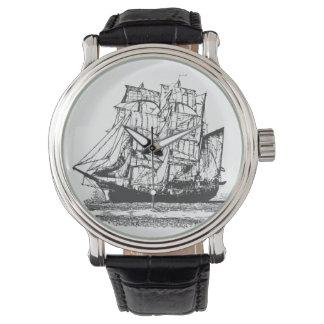 Montres Bracelet Grand voilier marchand de voilier de dessin au